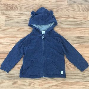 Zara Critter Ears Hooded Jacket. Size 18-24 mo.